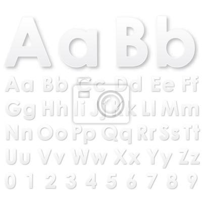 Alphabet Buchstaben auf einem weißen Hintergrund
