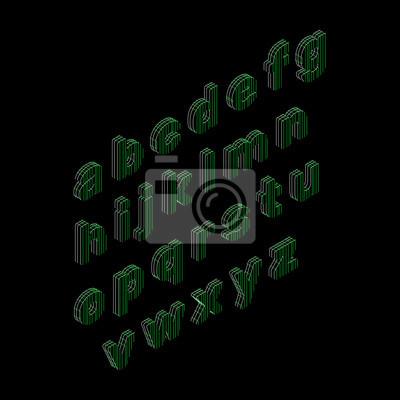 Alphabet buchstaben der linien. vector übersichtsdarstellung ...