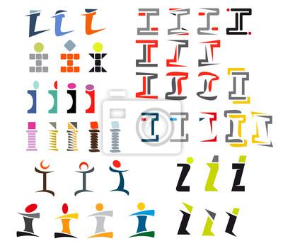 Alphabet Buchstaben I