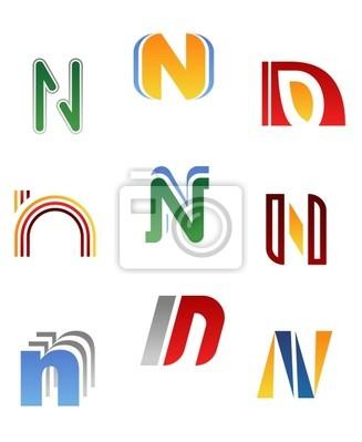 Alphabet Buchstaben N