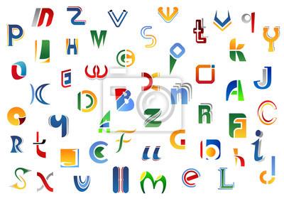 Alphabet Buchstaben und Symbole