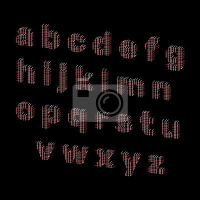 Alphabet buchstaben von linien. vektor umriss illustration ...