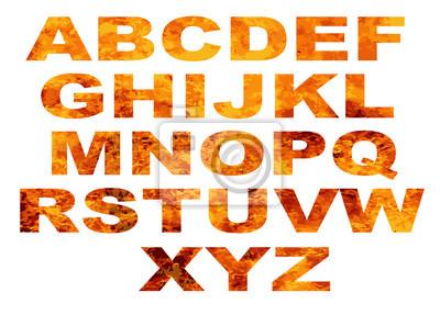 Alphabet Flamme Buchstaben