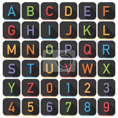 Alphabet-Fliesen