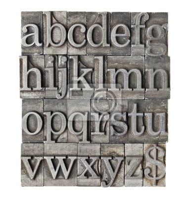 Alphabet im Grunge-Meta-Typ