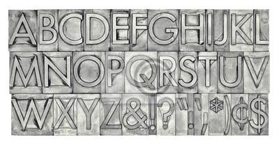 Alphabet in Metalltyp