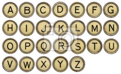 Alphabet in Schreibmaschinentasten