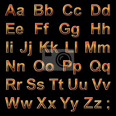 Alphabet pseudo 3d Buchstaben