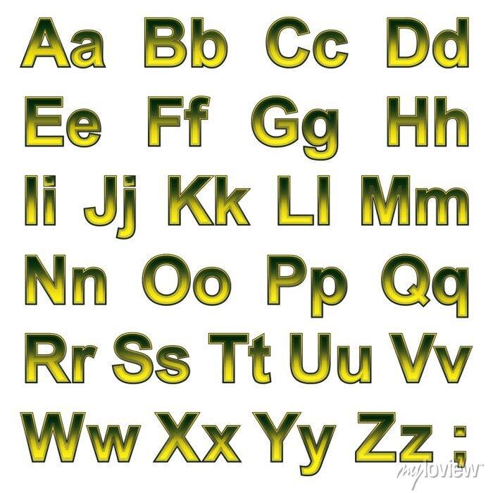 Fototapete Alphabet pseudo 3d Buchstaben