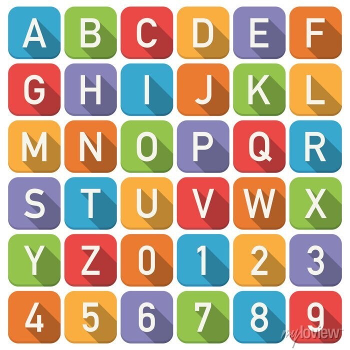 Fototapete Alphabet-Symbole