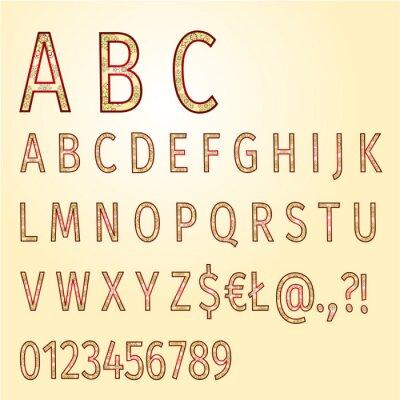 Alphabet von Ornamenten Vektor