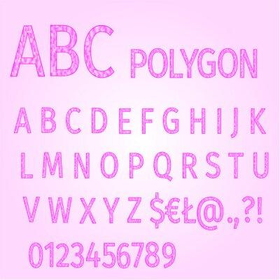 Alphabet von Polygonen lila Mosaik Vektor