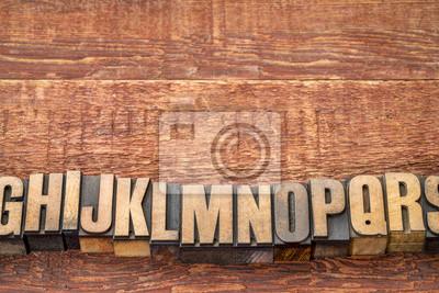 Alphabet Zusammenfassung in Buchdruck Holzart Blöcke
