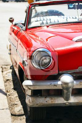 Alte autos. kuba, havanna fototapete • fototapeten red, Steuer ...