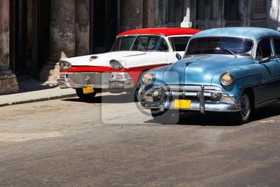 Fototapete Alte Autos Kuba Havanna