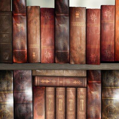 Fototapete Alte Bücher, Bibliothek
