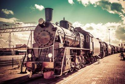 Fototapete Alte Dampflokomotive, Nostalgiezug.