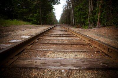 Fototapete Alte Eisenbahnschienen mit Vintage-Textur-Effekt