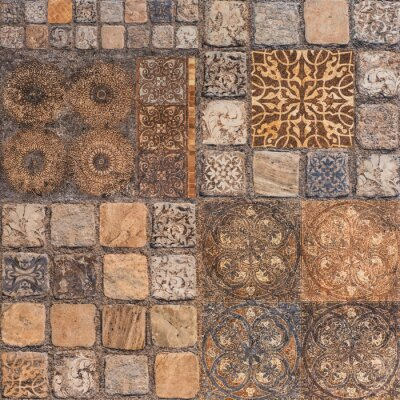 Alte Fliesen Mosaik Im Orientalischen Stil Fototapete Fototapeten - Alte mosaik fliesen