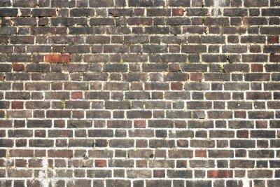 Fototapete Alte große verwitterte distressed roten Backsteinmauer Hintergrund