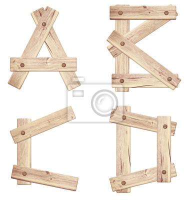 Alte Holzbuchstaben aus Holz Planken