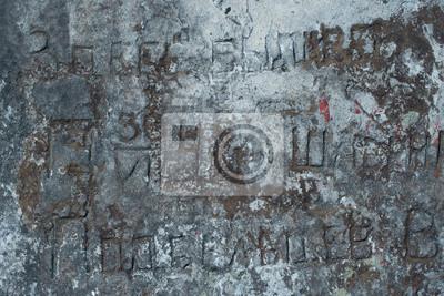 Alte Inschrift, Stein, Fels