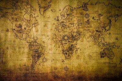 Fototapete alte Karte