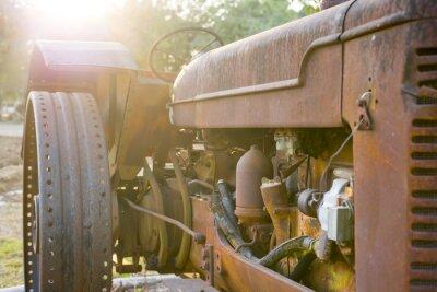Fototapete Alte Landwirtschaft Traktor