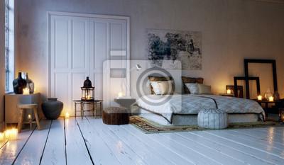 Alte loft wohnung schlafzimmer deckel von candle lights ...
