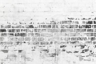 Fototapete Alte Mauer mit beschädigten weißen Lackschicht