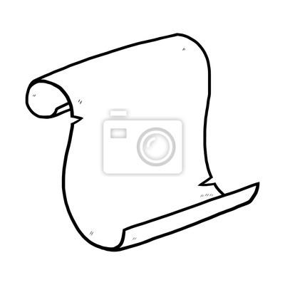 Fototapete Alte Papier / Cartoon Vektor und Illustration, schwarz und weiß, Hand gezeichnet, Skizze Stil, isoliert auf weißem Hintergrund.