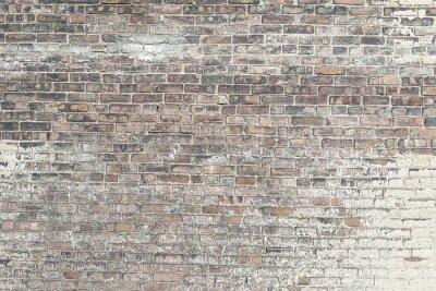 Fototapete Alte rote Backsteinmauer mit weißen Farbe Hintergrundtextur