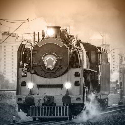 Fototapete Alte russische Dampflokomotive.