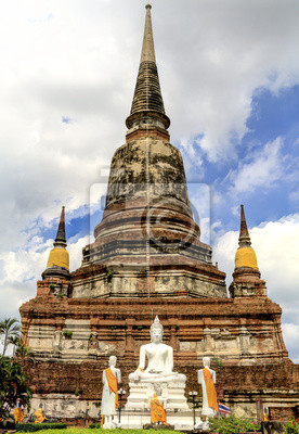 Alte Tempel, Wat Yai Chai Mongkhon der Ayutthaya-Provinz Thailand