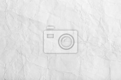 Fototapete Alte weiße zerknittertes Papier Blatt Hintergrund Textur