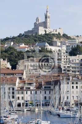 Fototapete alten Hafen von Marseille
