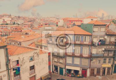 Fototapete alten Häusern im historischen Teil der Stadt, Porto