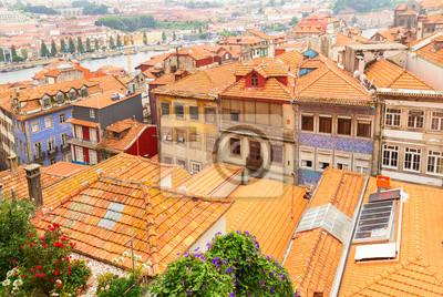 Fototapete alten Häusern im historischen Teil der Stadt, Porto, Portugal