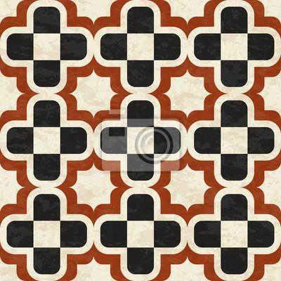 Alten Marmor Bodenfliesen Abstrakte Geometrische Muster Mit