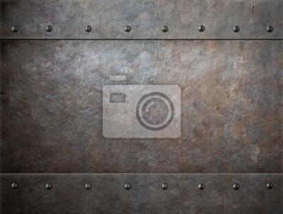 Fototapete alten rostigen Metall-Hintergrund