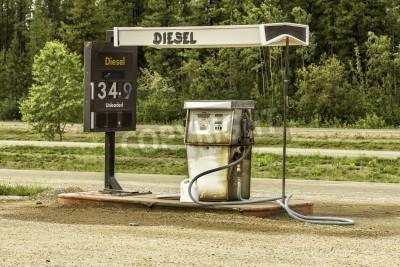 Retro Kühlschrank Zapfsäule : Alten tankstelle mit vintage zapfsäule in kanada fototapete