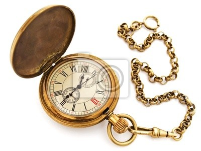 alten Vintage Tasche Uhr geöffnet