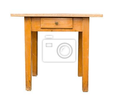 Alter Antiker Esstisch Tisch Um 1920 Fototapete Fototapeten