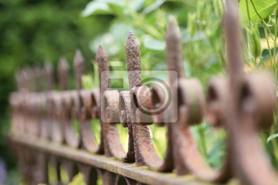 Alter Rostiger Zaun Fototapete Fototapeten Abgrenzung Ausschluss