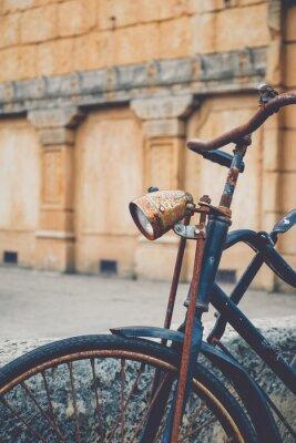 Fototapete Altes verrostetes Fahrrad