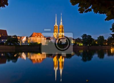Fototapete Altstadt (Dominsel), Wroclaw, Polen