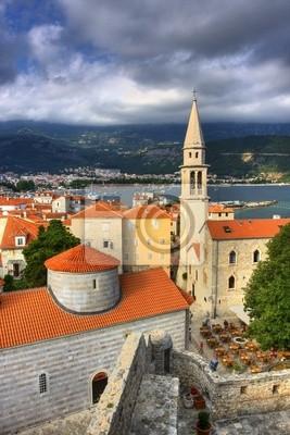 Fototapete Altstadt in Budva, Montenegro