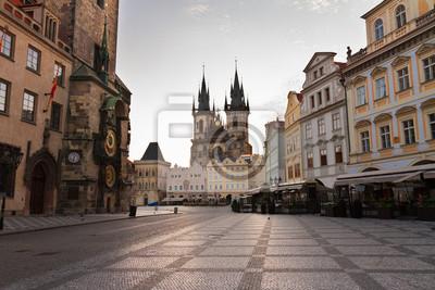 Fototapete Altstädter Ring mit Rathaus von Prag
