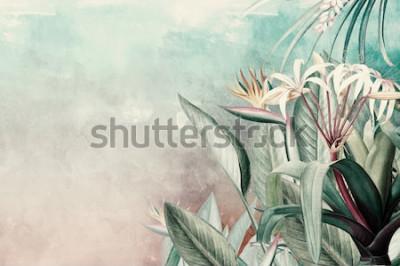 Fototapete Amazon Green Tropical Leaves Wallpaper