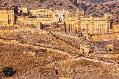 Fototapete Amer Amber Fort, Rajasthan, Indien